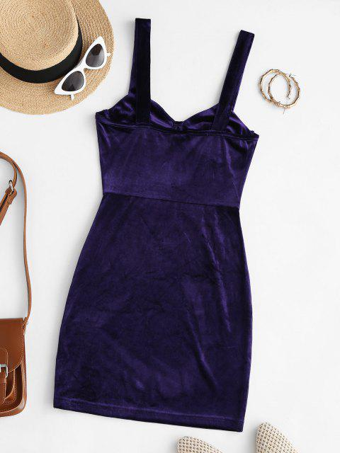 Mini Vestido Terciopelo Busto - Azul Profundo S Mobile