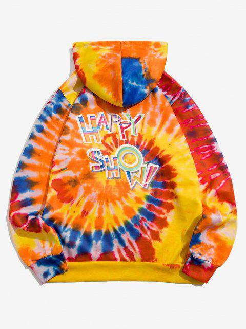 Krawatte Farbstoff Happy Show Muster Hoodie - Papaya Orange M Mobile