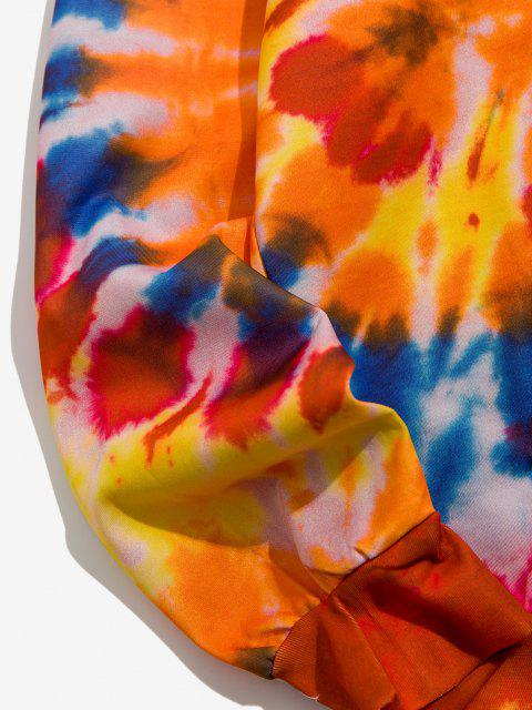 Sweat à Capuche Teintée Motif Show - Orange Papaye 3XL Mobile
