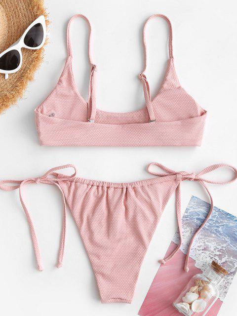 Bikini con Coulisse Imbottito di ZAFUL - Rosa chiaro S Mobile