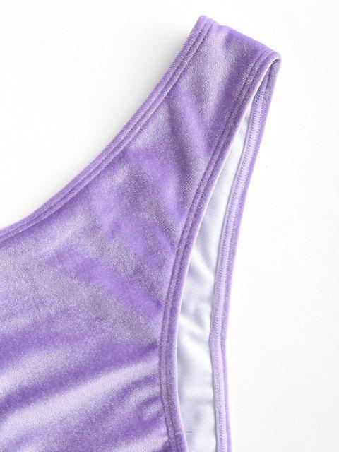 ZAFUL Samt Frech Bikini Unterteile - Lila S Mobile