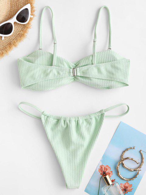 ZAFUL Costume da Bagno Bikini a Costine Tanga ZAFUL - Verde chiaro S Mobile