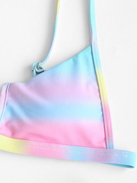 ZAFUL Krawattenfärbender V Verdrahteter Bikini Badebekleidung mit Hohem Bein - Multi S Mobile