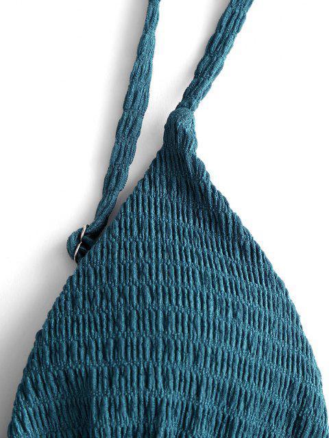 ZAFUL Biquíni de Cabresto e Franzido - Azul Escuro S Mobile