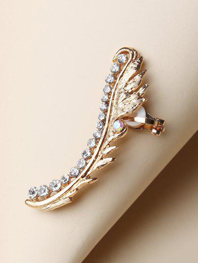 Single Rhinestone Stud Earring - Golden