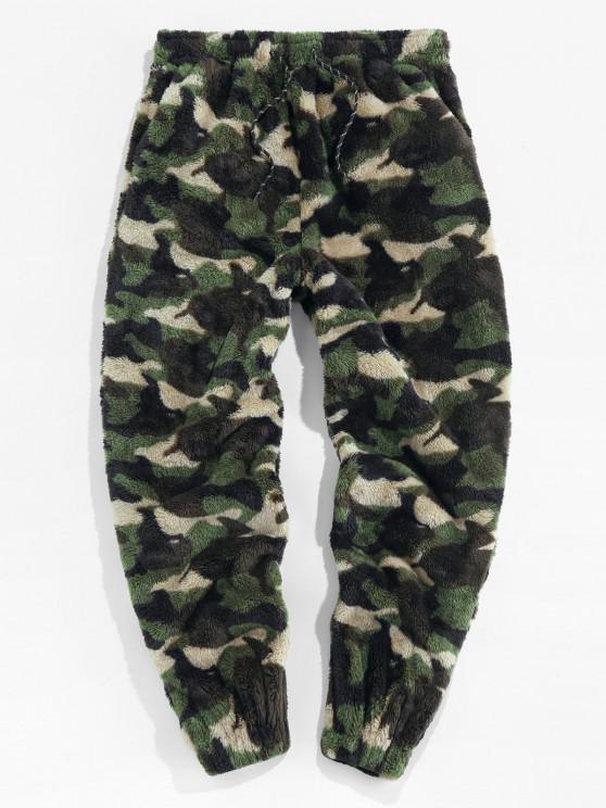 ZAFUL Pantalones de Piel Sintética con Estampado de Leopardo - Camuflaje de Bosque M