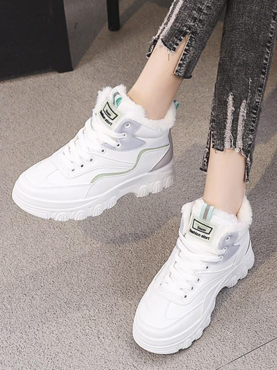 chic Colorblock High Top Fleece Sneakers - GRAY EU 37