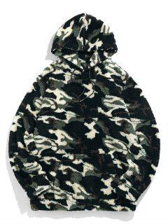 ZAFUL Camouflage Sherpa Fleece Hoodie - Woodland Camouflage M