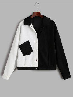 ZAFUL Corduroy Two Tone Pocket Jacket - Multi-a M