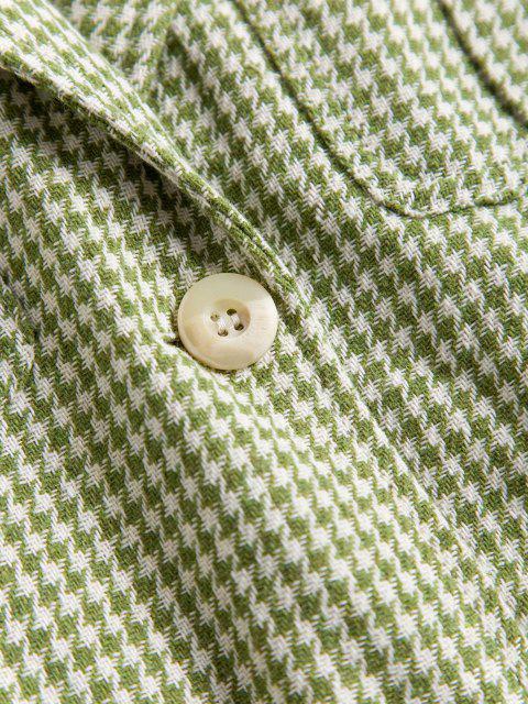 Hahnentritt Blazer mit Gürtel und Tasche - Hellgrün L Mobile