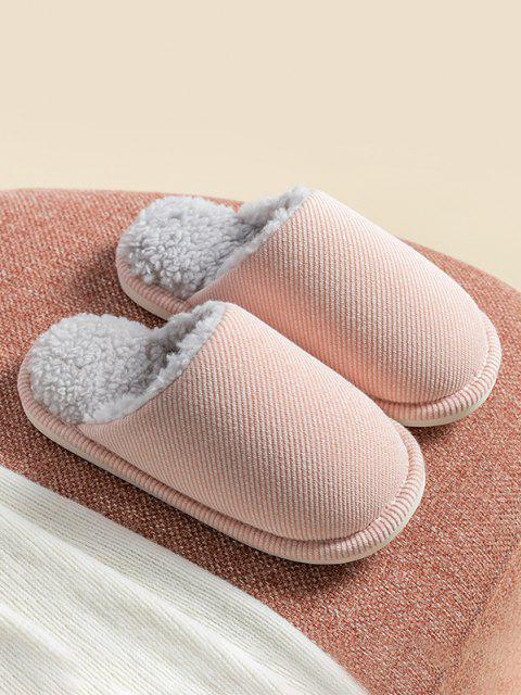 hot Closed Toe Sherpa Fleece Slippers - PINK EU 40 Mobile