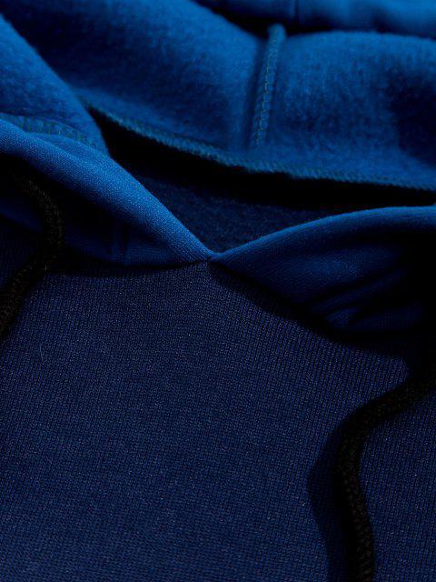 Casaco de Capuz de Lã com Bolso Canguru - Azul Escuro XL Mobile