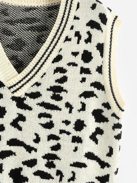ZAFUL Weste mit V Ausschnitt und Leopardenmuster - Multi M Mobile