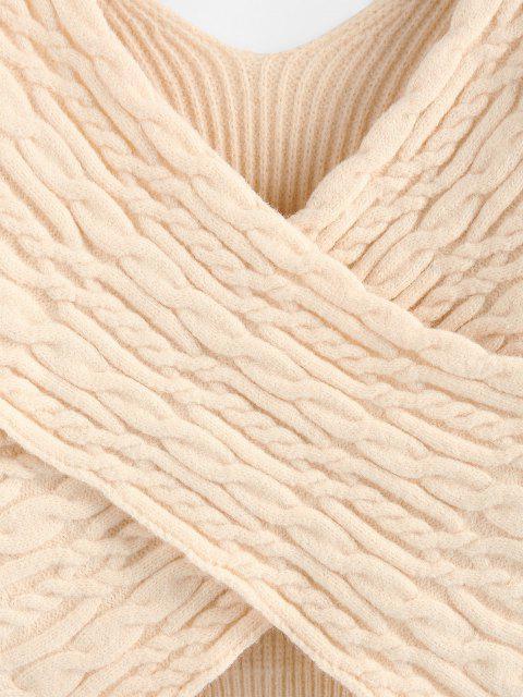 Maglione Corto Incrociato con Spalle Scivolate di ZAFUL - caffè leggero S Mobile