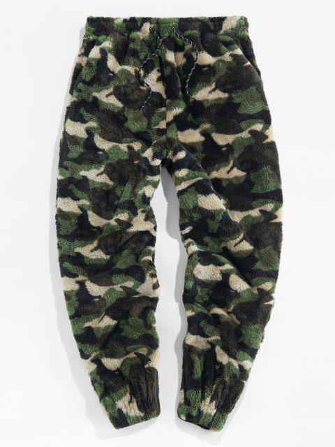ZAFUL Pantalones de Piel Sintética con Estampado de Leopardo - Camuflaje de Bosque M Mobile