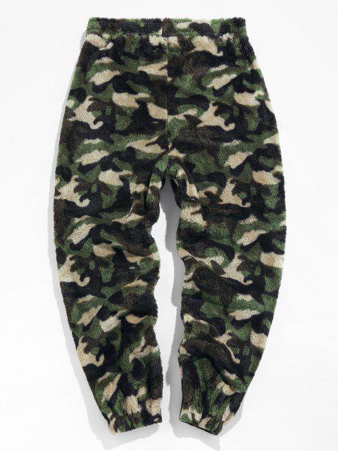 ZAFUL Pantalones de Piel Sintética con Estampado de Leopardo - Camuflaje de Bosque L Mobile