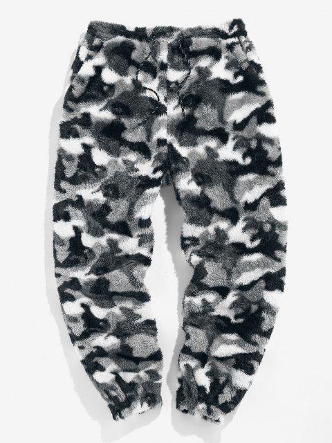 ZAFUL Pantalones de Piel Sintética con Estampado de Leopardo - Camuflaje de Nieve S Mobile