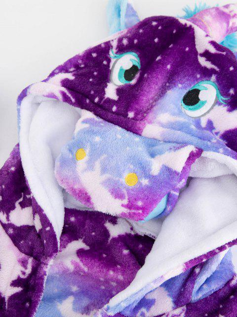 new Plush Unicorn Pocket Belted Costume Pajama Robe - MULTI S Mobile