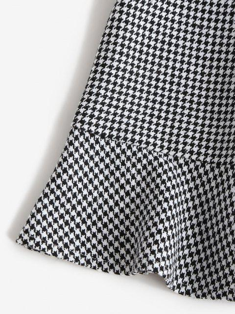 shop ZAFUL High Rise Houndstooth Mini Fishtail Skirt - MULTI-A M Mobile