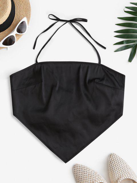 trendy ZAFUL Back Tie Halter Bandana Top - BLACK L Mobile