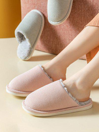 Closed Toe Sherpa Fleece Slippers - Pink Eu 37