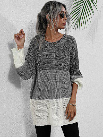 Heathered Colorblock Sweater
