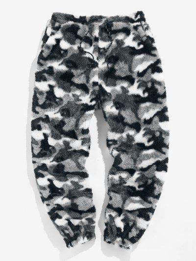 Pantaloni In Pelliccia Sintetica Con Motivo Leopardato Di ZAFUL - Camouflage Neve Xl