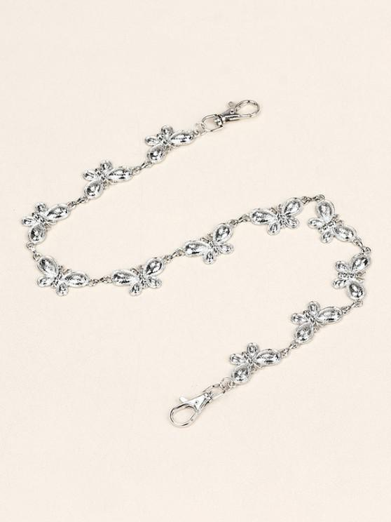 hot Butterfly Shape Metal Trousers Chain - SILVER
