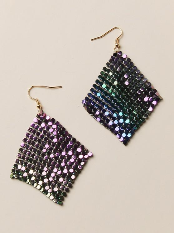 lady Ombre Sequined Drop Earrings - MULTI-A