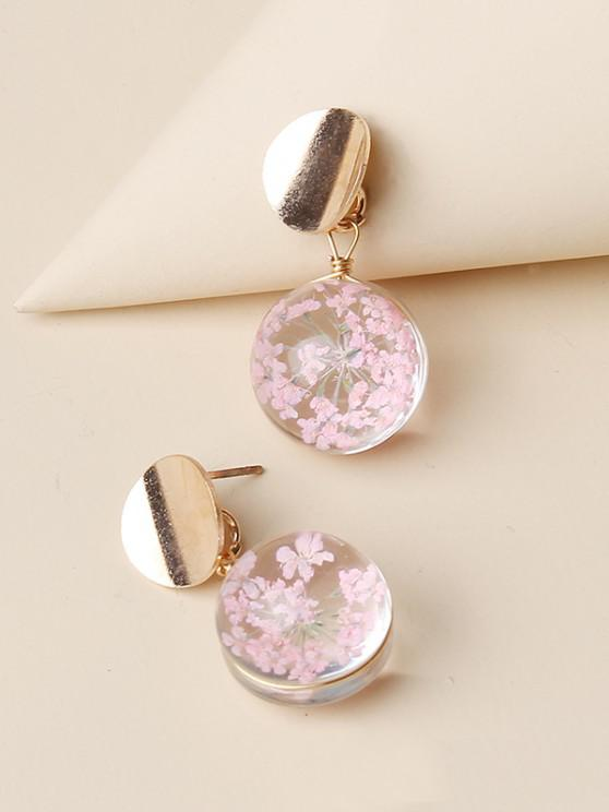 best Round Flower Drop Earrings - GOLDEN