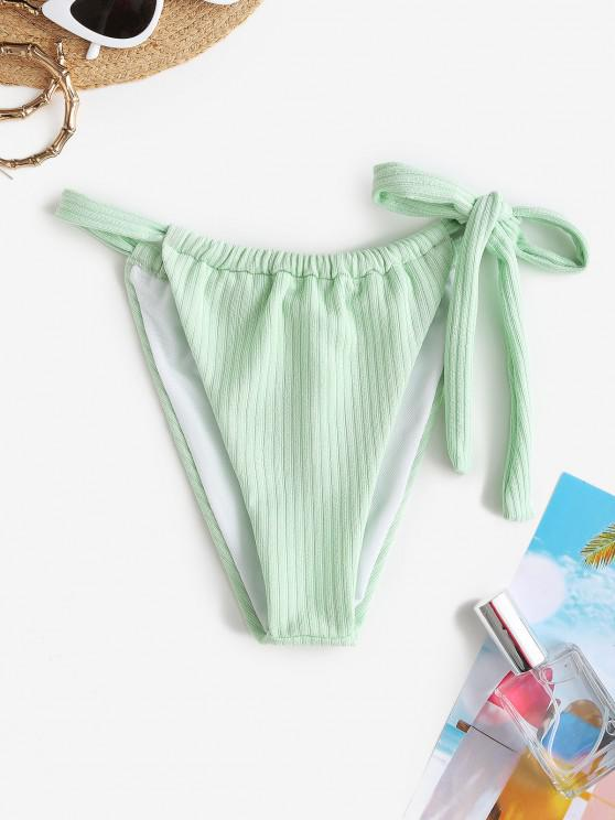 ZAFUL Bikiniunterteil mit Gerippten Bindebändern - Hellgrün S
