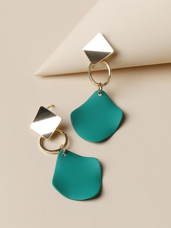 unique Geometric Colorblock Drop Earrings - GOLDEN