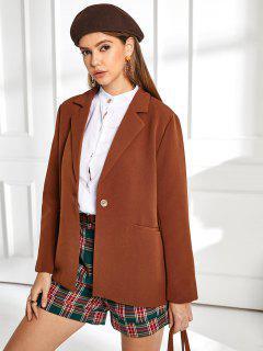 ZAFUL One Button Belted Solid Blazer - Chestnut Xl