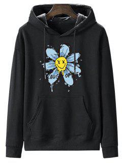 Sweat-Shirt à Capuche Doublé En Molleton Motif Fleur Séchée - Nuit 2xl
