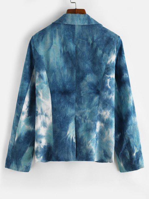 Krawattenfärbender Cord Schulter Pad Blazer - Blau M Mobile