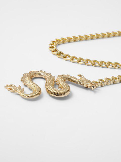 outfit Dragon Pendant Waist Chain - GOLDEN  Mobile
