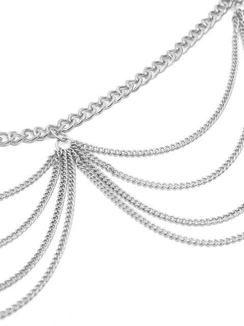 hot Multilayered Wavy Waist Chain - SILVER  Mobile