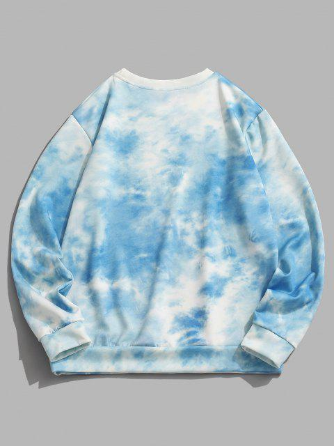 unique Tie Dye Extra-terrestrial Pattern Sweatshirt - BLUE KOI XL Mobile