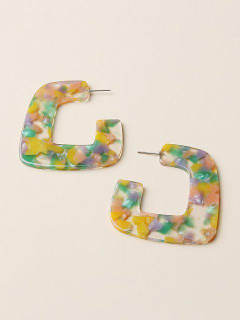 sale Mixed Color Square Acrylic Earrings - MULTI-A  Mobile