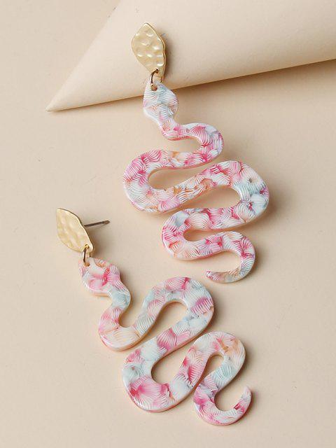 affordable Snake Shape Mixed Color Earrings - MULTI-A  Mobile
