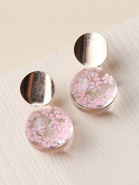 best Round Flower Drop Earrings - GOLDEN  Mobile