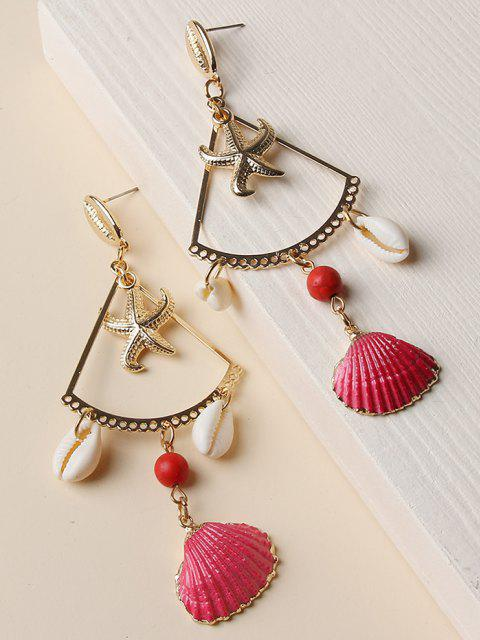 online Starfish Cowrie Shell Dangle Earrings - GOLDEN  Mobile
