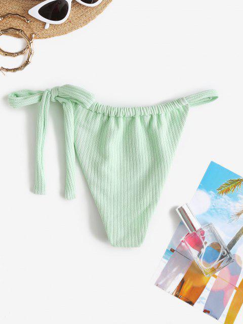 ZAFUL Bikiniunterteil mit Gerippten Bindebändern - Hellgrün M Mobile