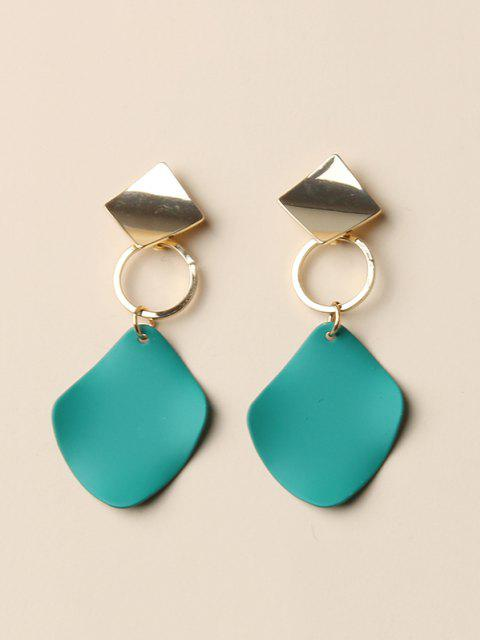 unique Geometric Colorblock Drop Earrings - GOLDEN  Mobile