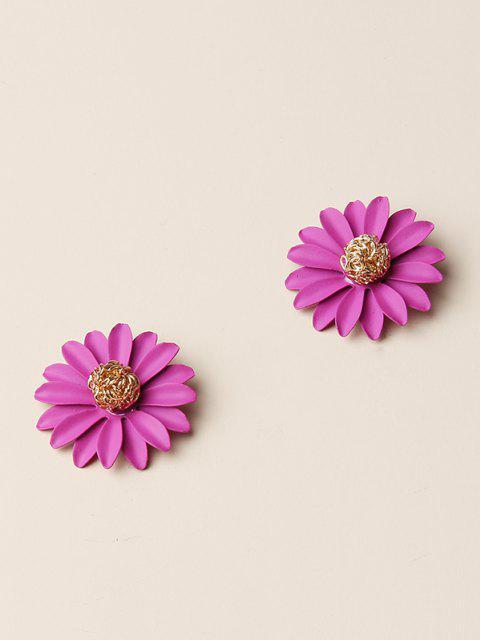 sale Daisy Flower Shape Stud Earrings - GOLDEN  Mobile