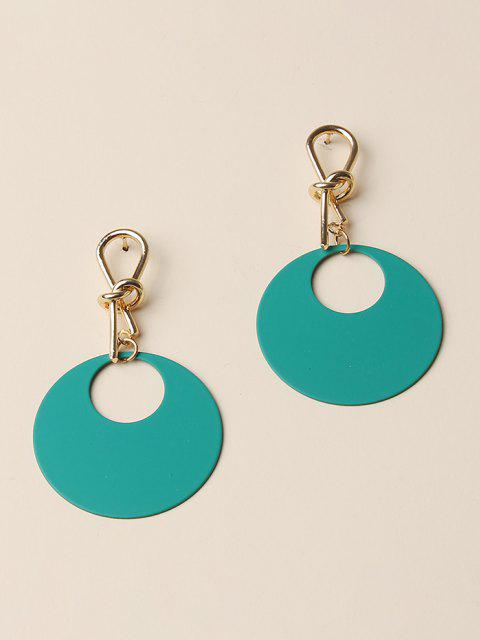 affordable Knot Hollow Round Drop Earrings - LIGHT SEA GREEN  Mobile