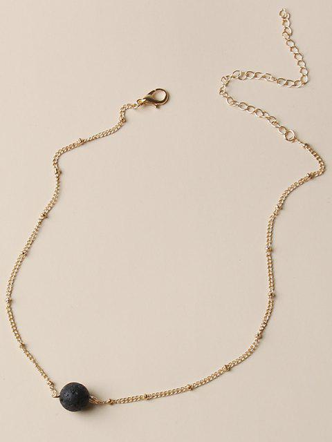 unique Brief Ball Chain Necklace - GOLDEN  Mobile