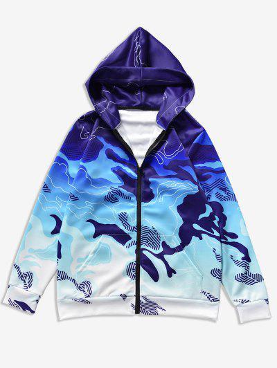 Hooded Front Pocket Camo Jacket - Acu Camouflage 2xl