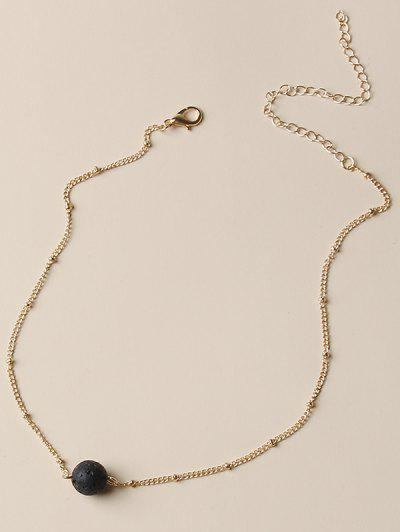 Collier Simple à Chaîne Avec Boule - D'or