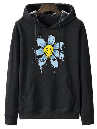 Sweat-Shirt à Capuche Doublé En Molleton Motif Fleur Séchée - Nuit L